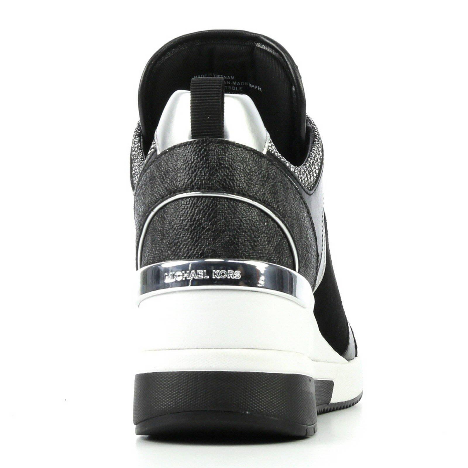 e70d2950515 Michael Kors Georgie Trainer Glitter suède sneakers zwart | wehkamp
