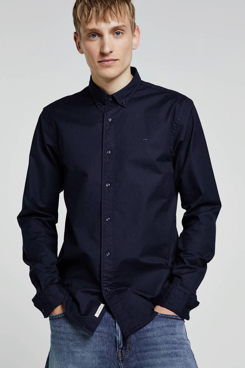 Scotch & Soda regular fit overhemd donkerblauw, Donkerblauw
