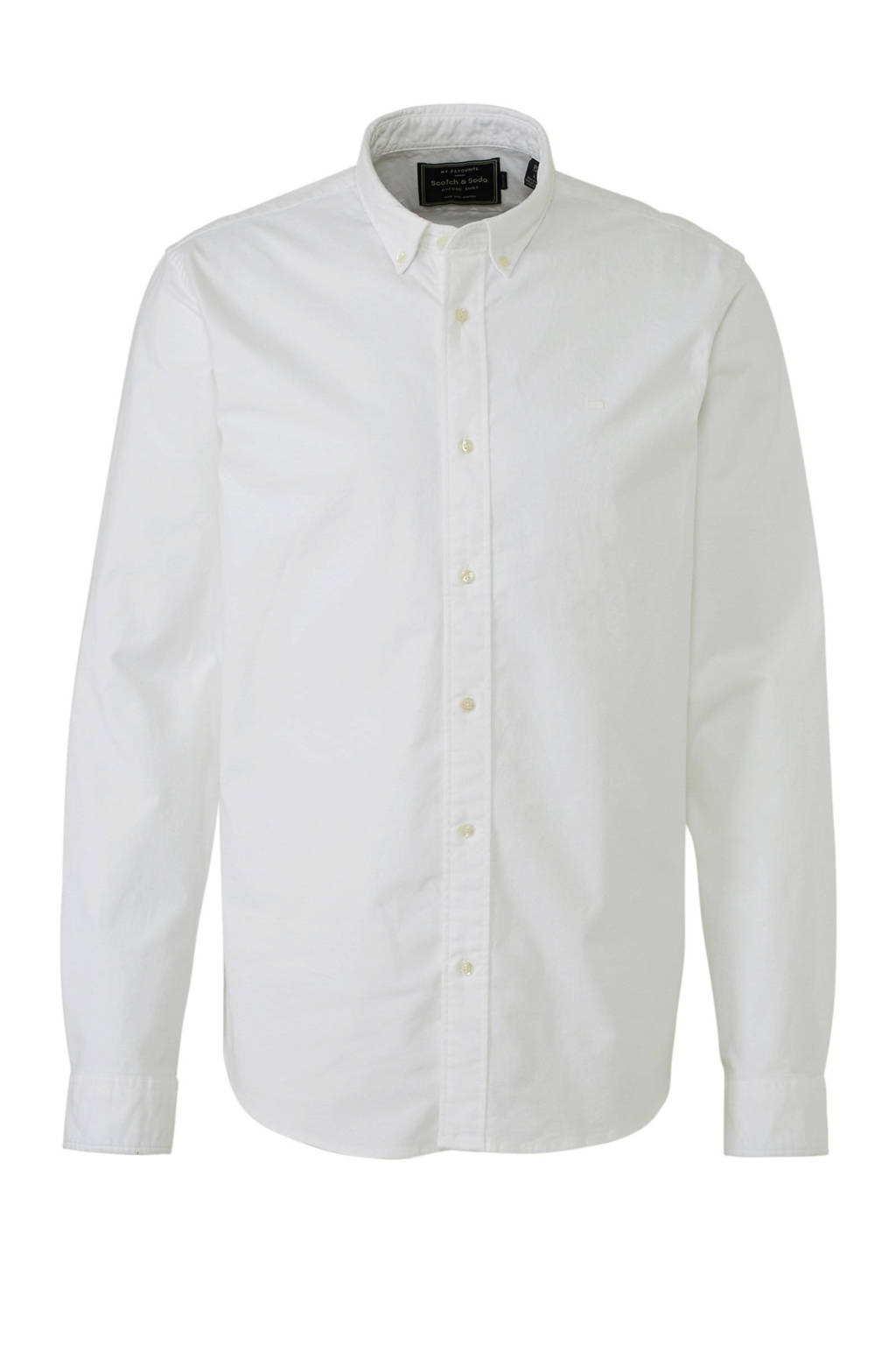 Scotch & Soda regular fit overhemd wit, Wit