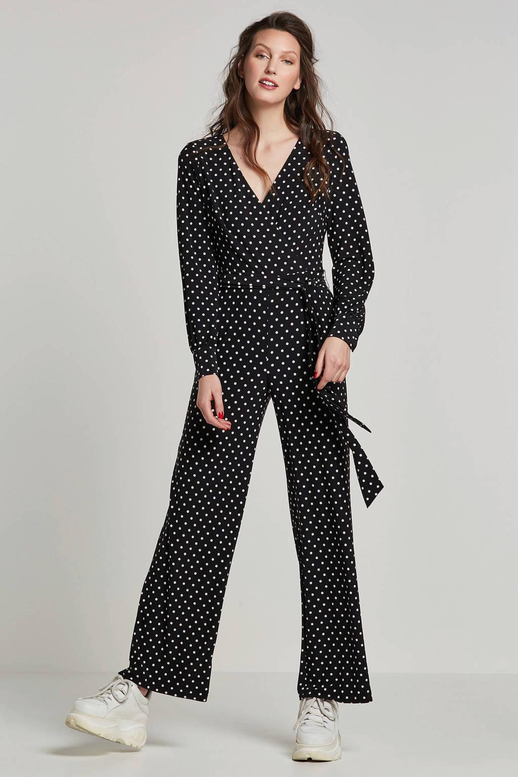 Lauren Ralph Lauren gestipte jumpsuit, Zwart