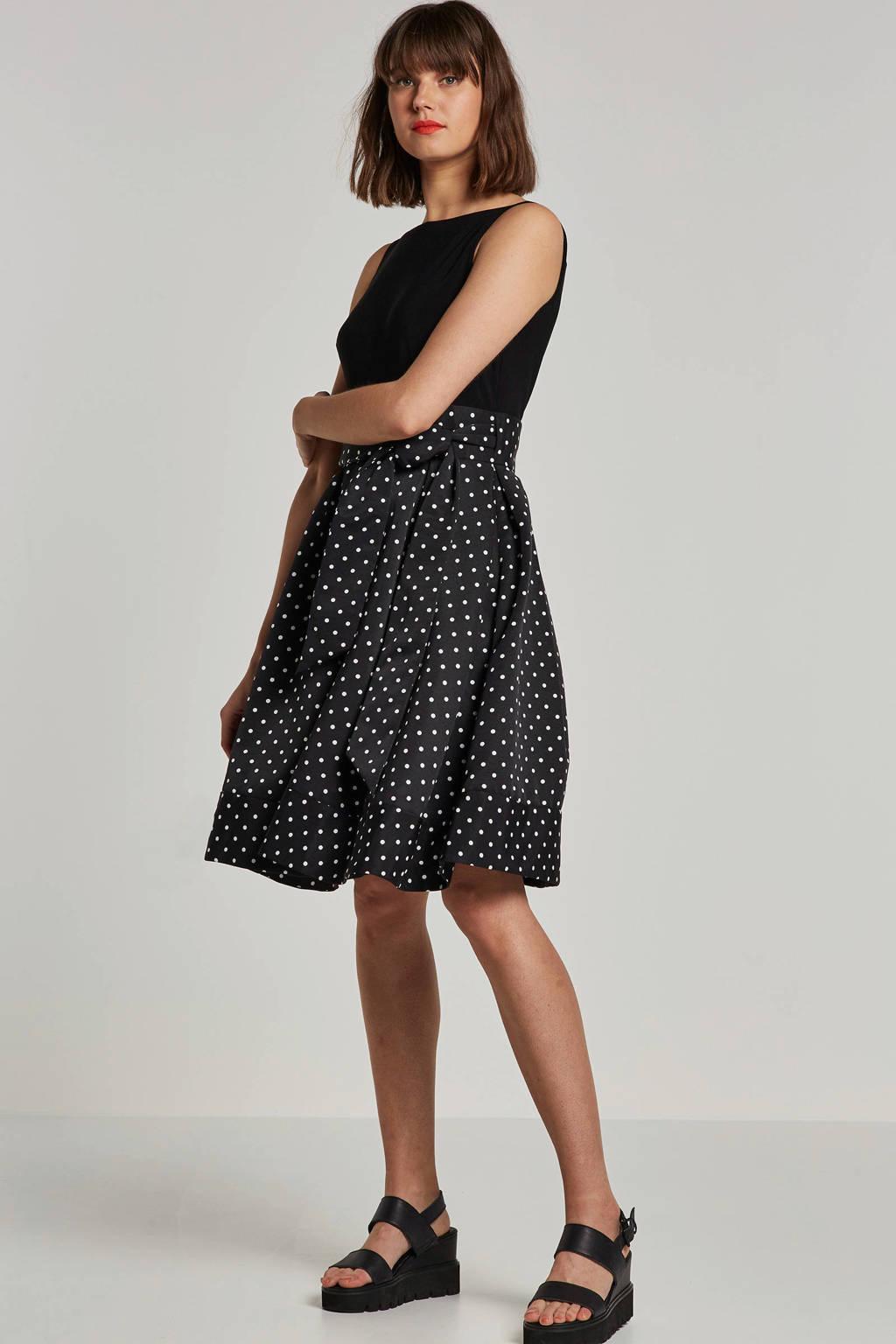 Lauren Ralph Lauren jurk met stippen, Zwart/wit