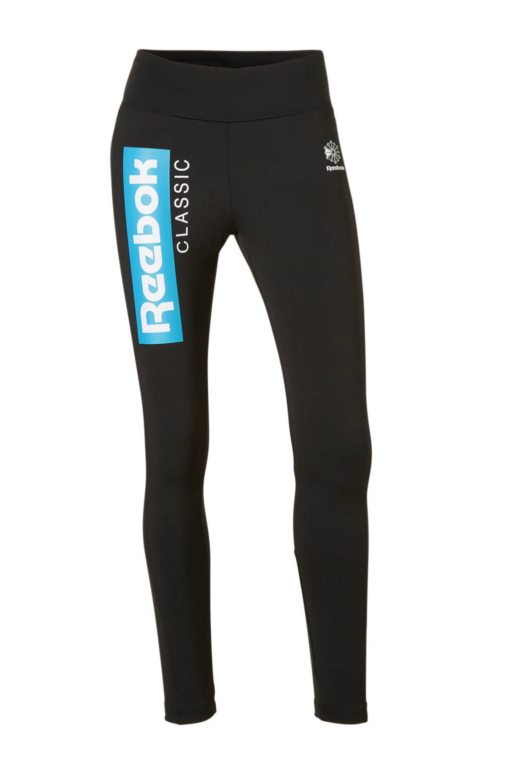 Reebok Classics legging zwart, Zwart/groen/wit
