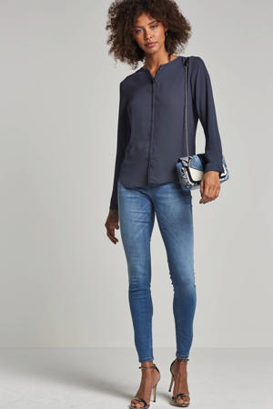 Cylar blouse donkerblauw