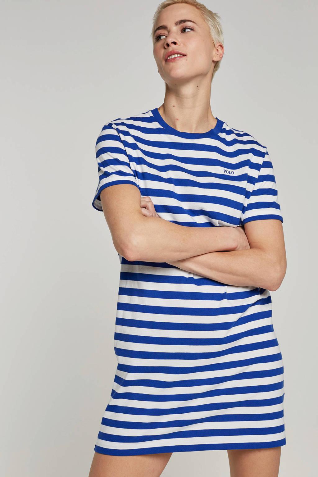POLO Ralph Lauren gestreepte jurk, Blauw/wit