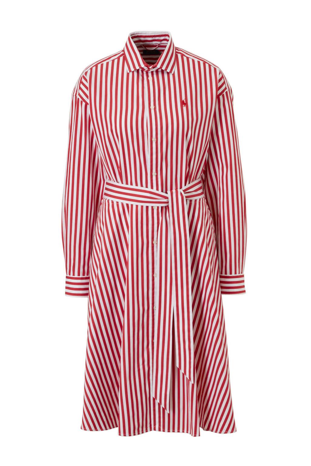 POLO Ralph Lauren jurk met strepen, Rood/wit