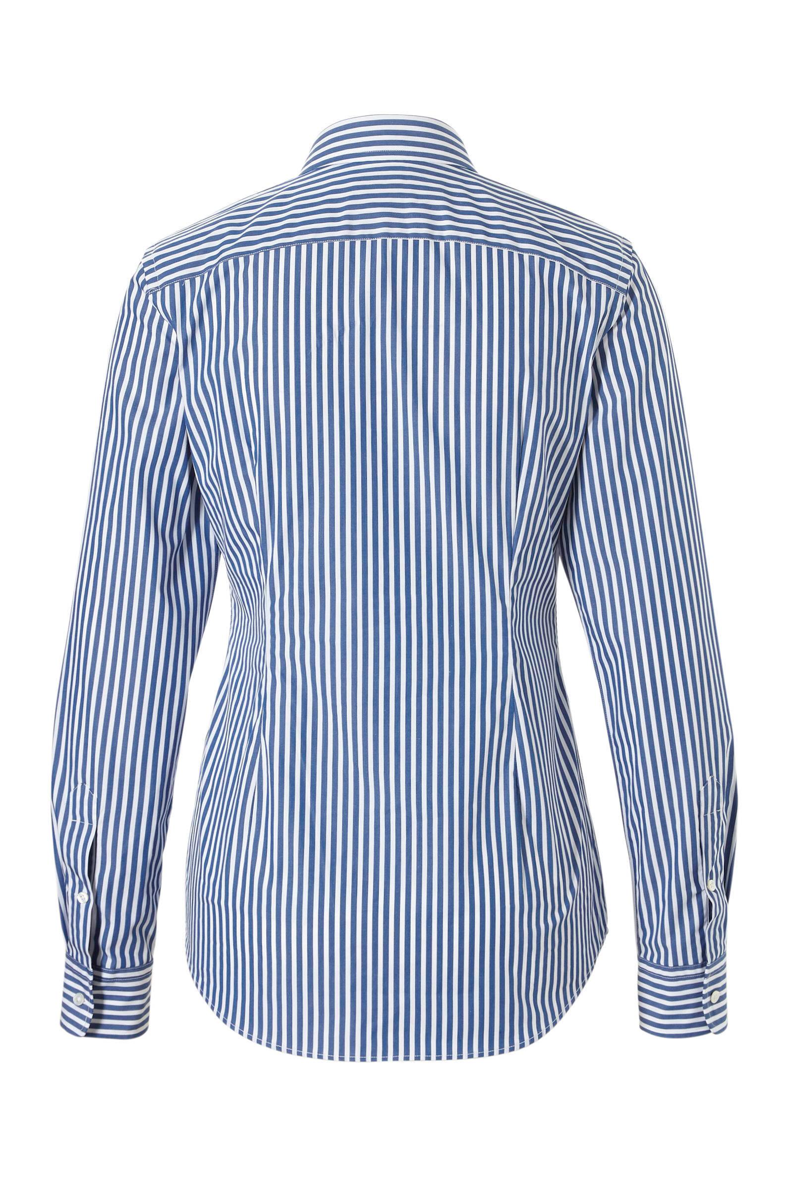 blouse Ralph streepte Lauren blauw POLO 1wqHzY1