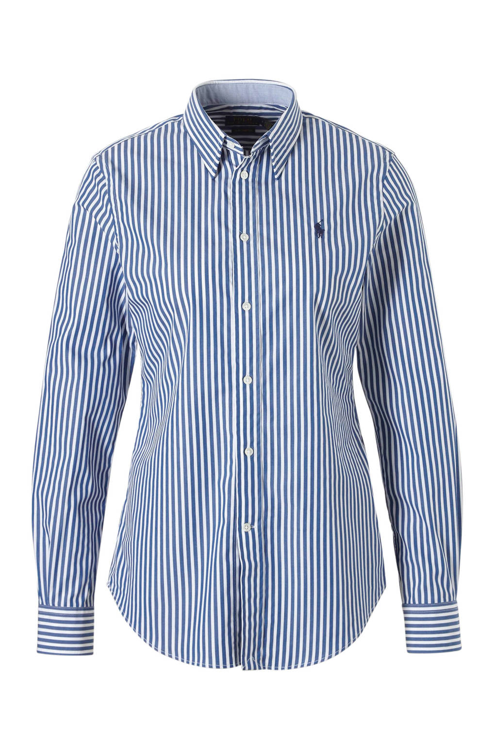 POLO Ralph Lauren streepte blouse blauw, Blauw