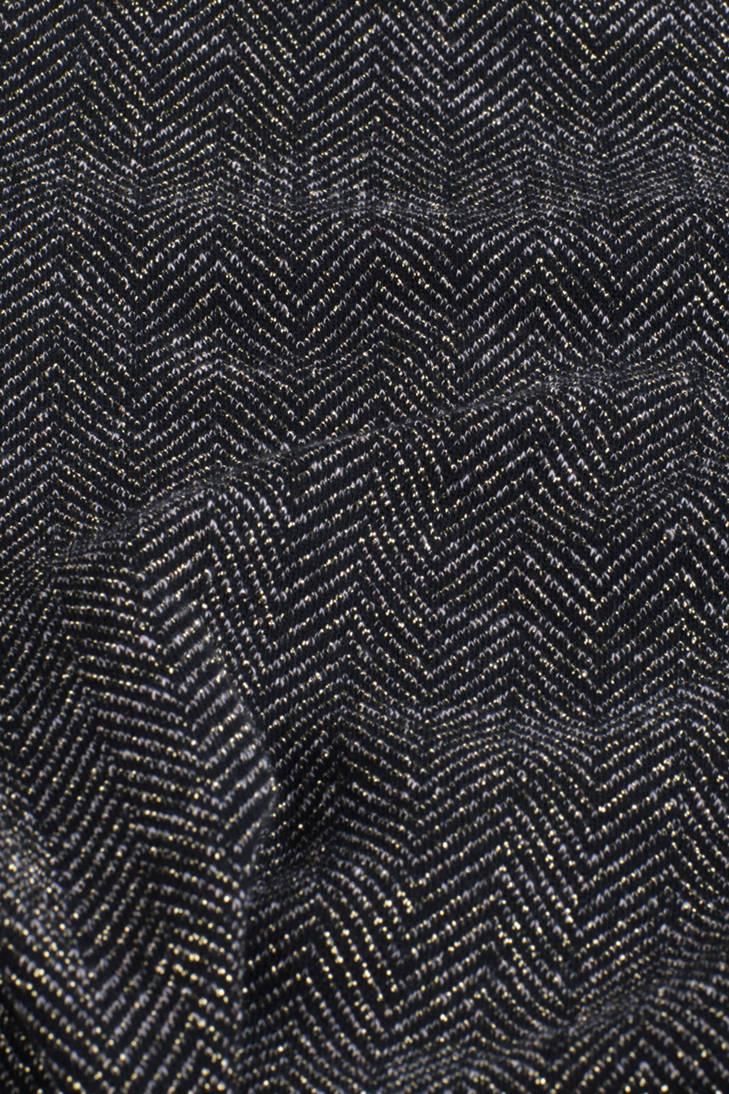 Fashion sweater visgraat WE zwart print goud met PdvvqW5Tw