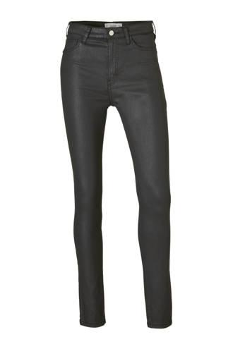 coated skinny jeans zwart
