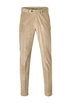 corduroy slim fit pantalon beige
