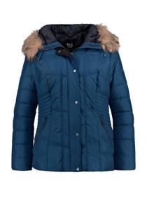 MS Mode gewatteerde winterjas blauw (dames)