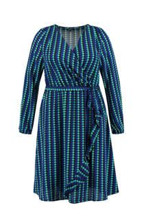 MS Mode jurk met all over print blauw