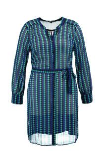 MS Mode blouse met print blauw (dames)
