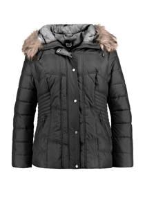 MS Mode gewatteerde winterjas zwart (dames)