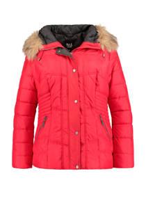 MS Mode gewatteerde winterjas rood (dames)