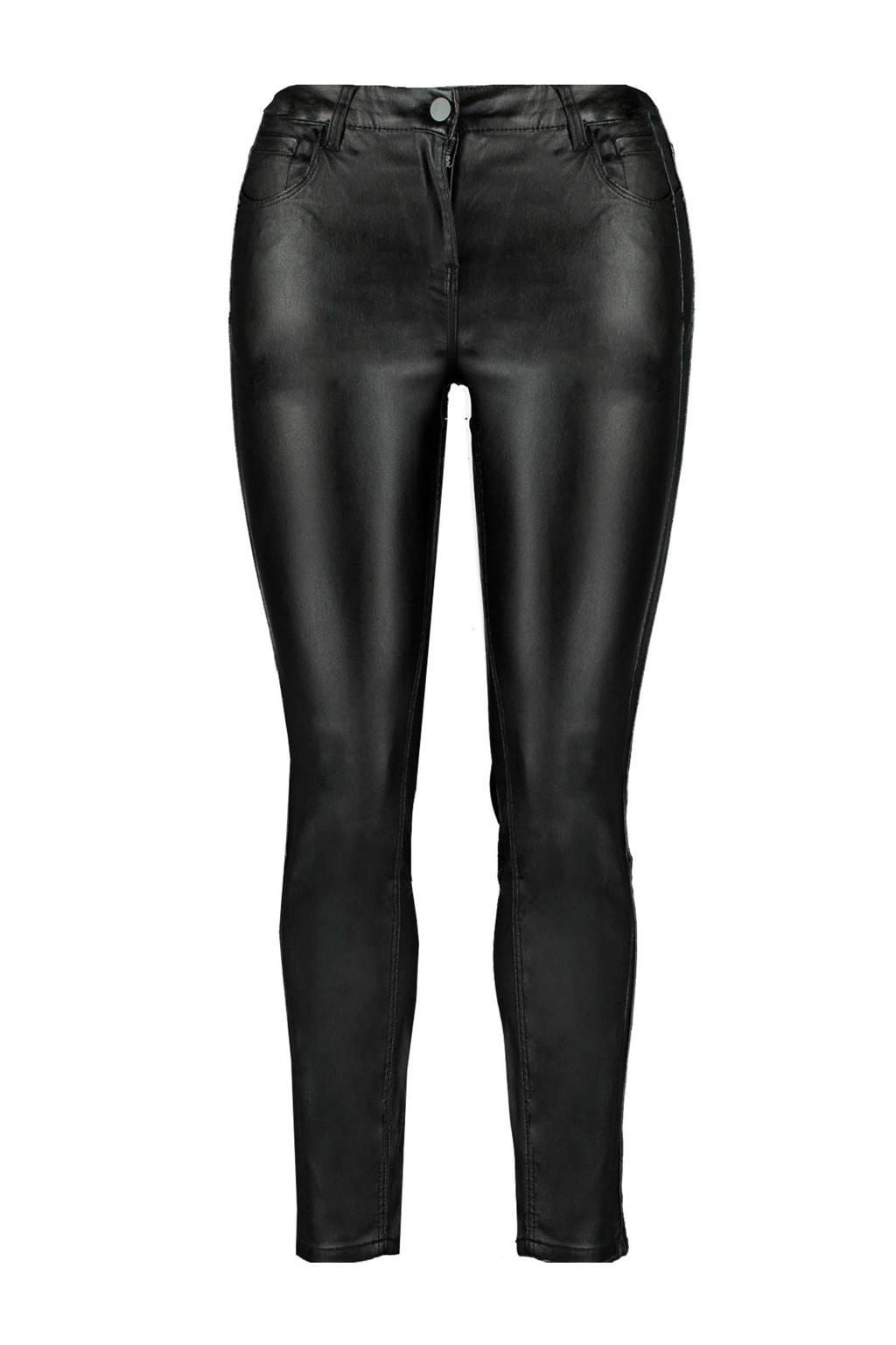 MS Mode broek met coating zwart, Zwart