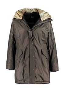 MS Mode winterjas olijfgroen (dames)