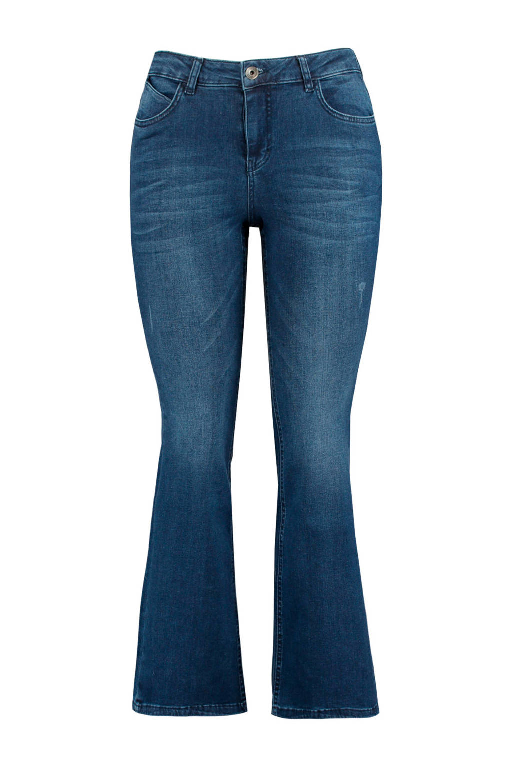 MS Mode flared jeans blauw, Blauw