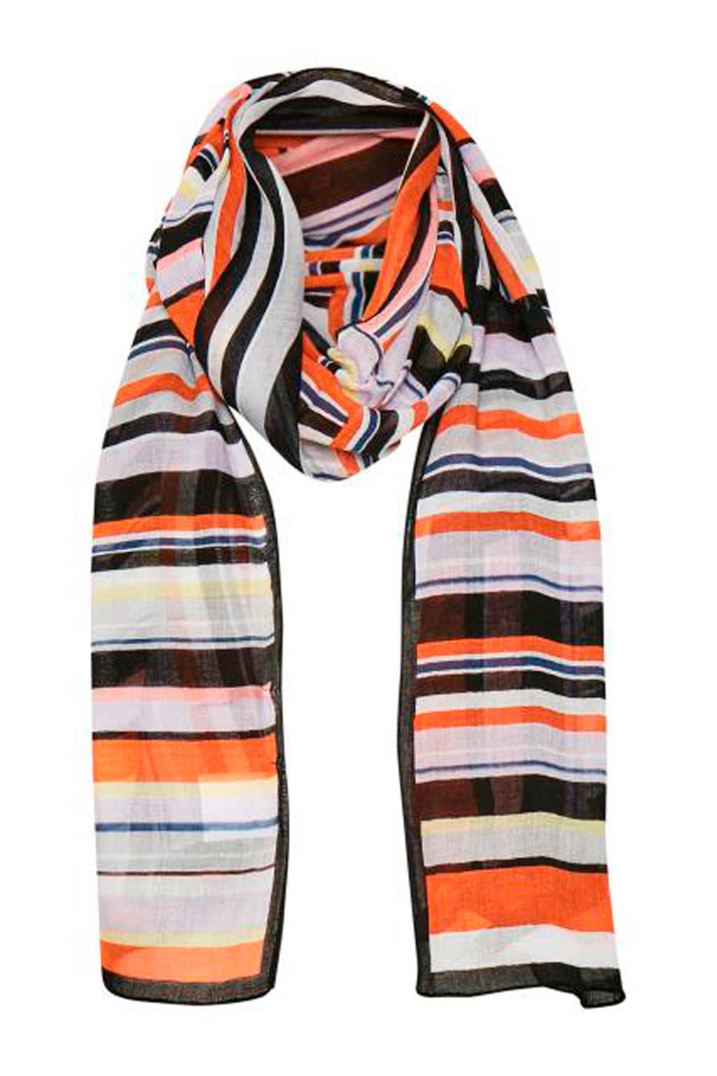 Inwear sjaal Vesta, oranje/wit/bruin