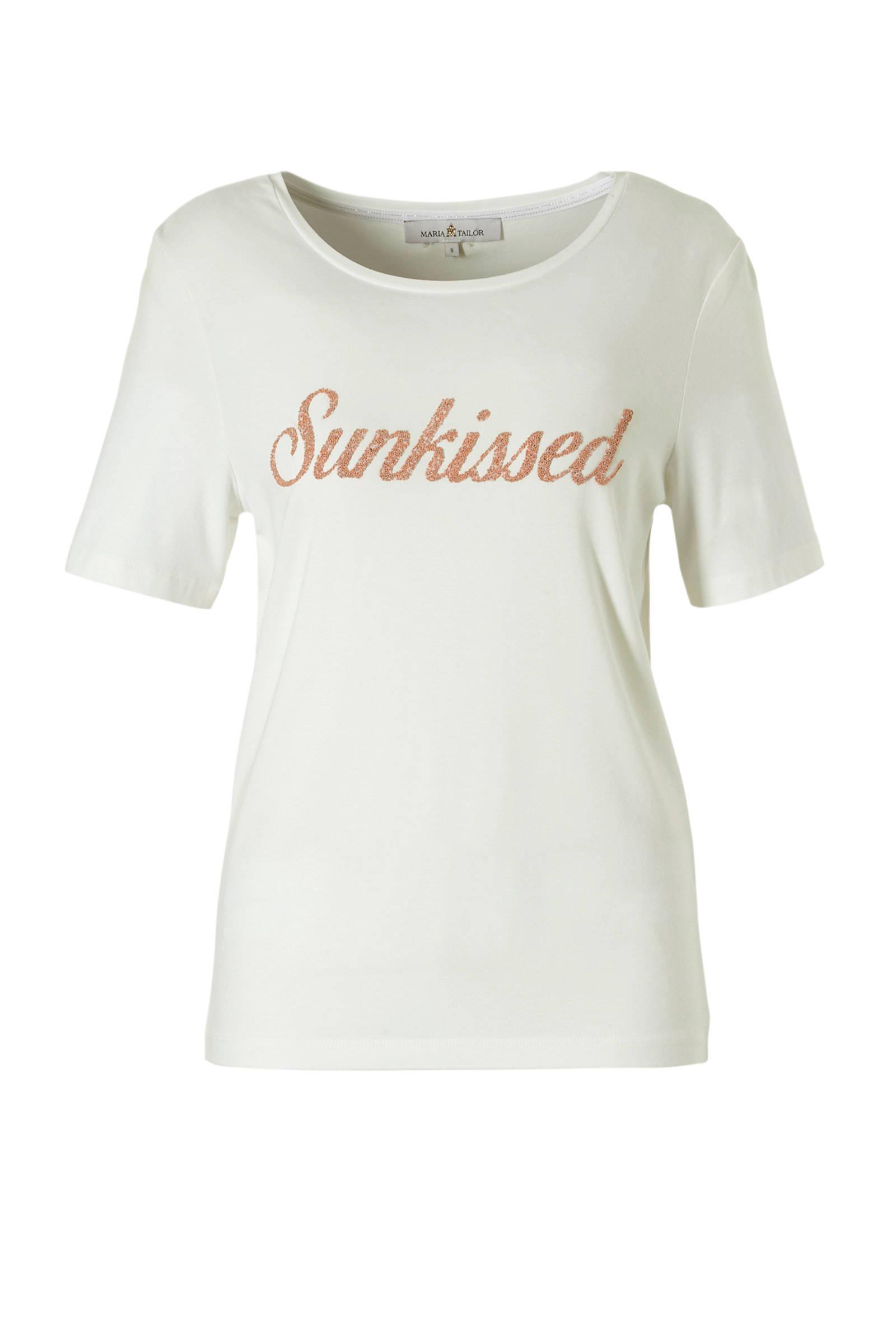 T Dameskleding shirt Tekstopdruk Maria Tailor Met fvY76gbIy