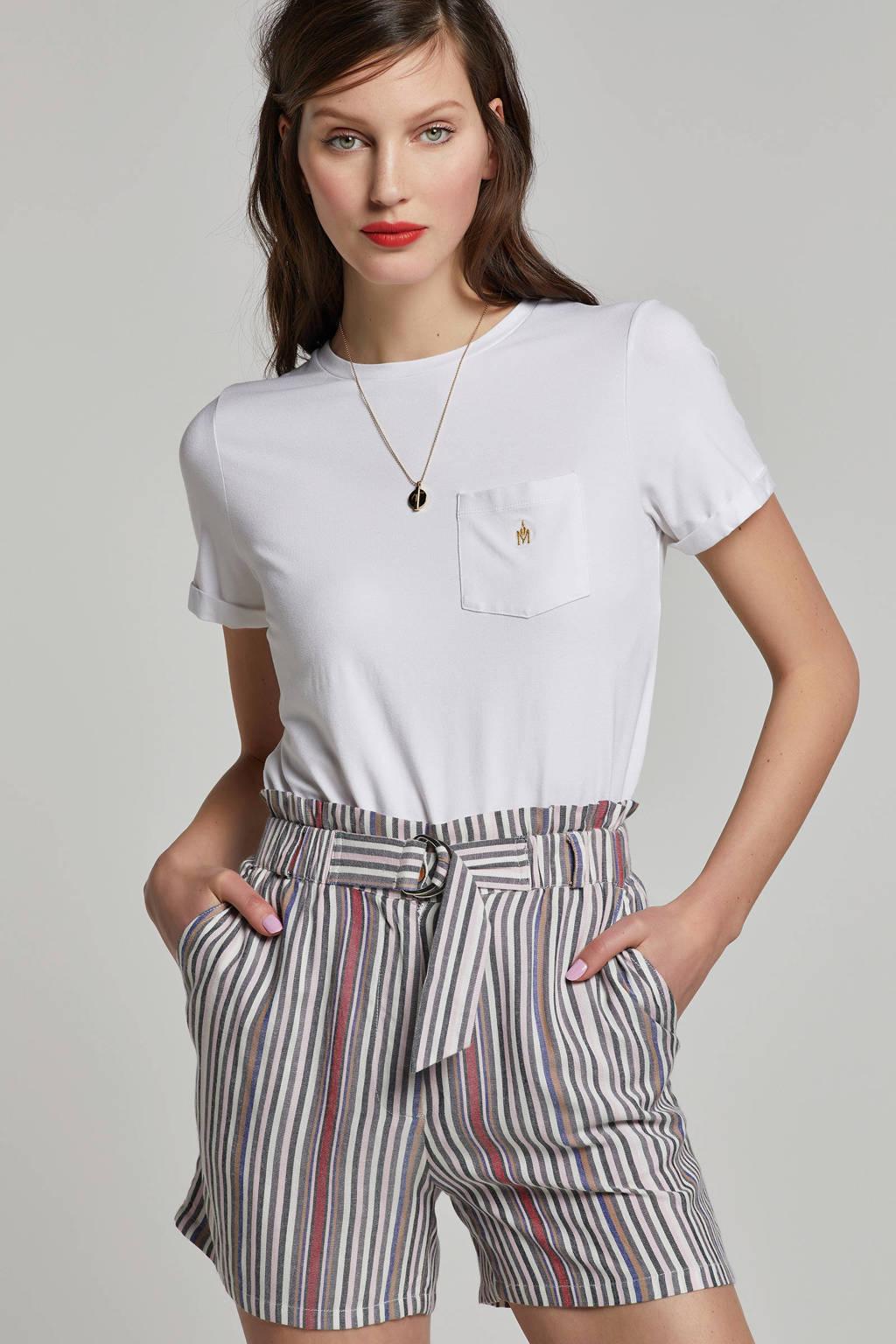 MARIA TAILOR T-shirt met borstzak, Wit