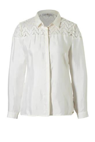 blouse met kanten details