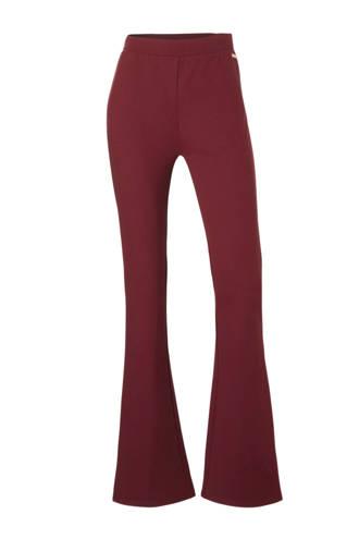 flared fit broek rood