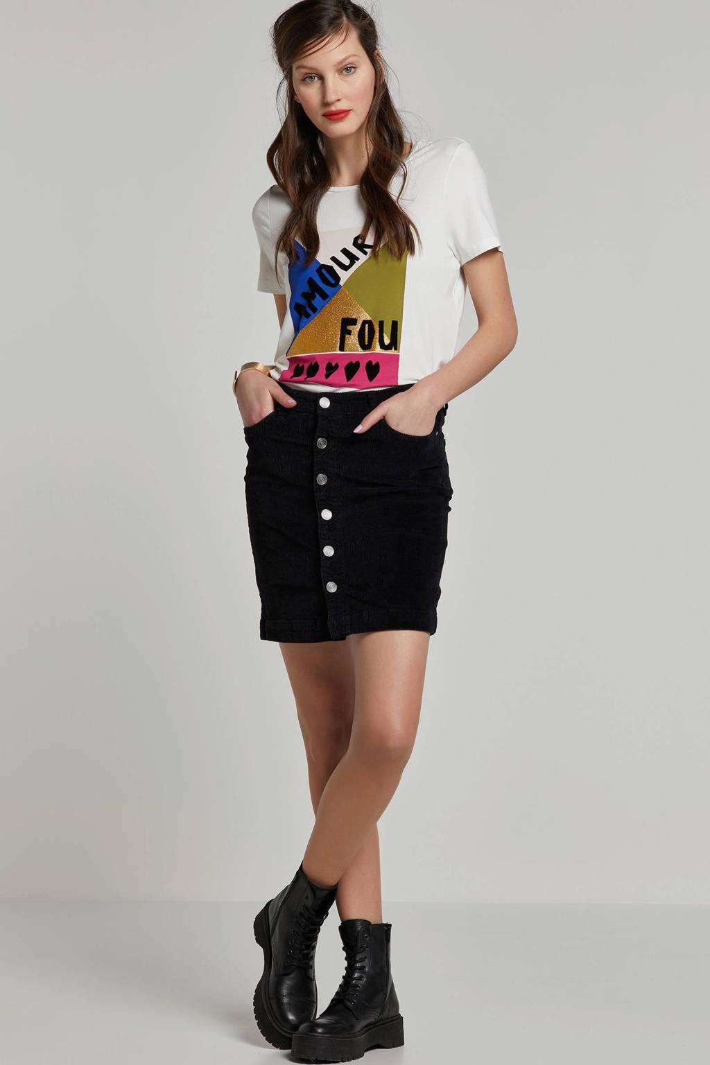 MARIA TAILOR T-shirt met printopdruk wit, Wit