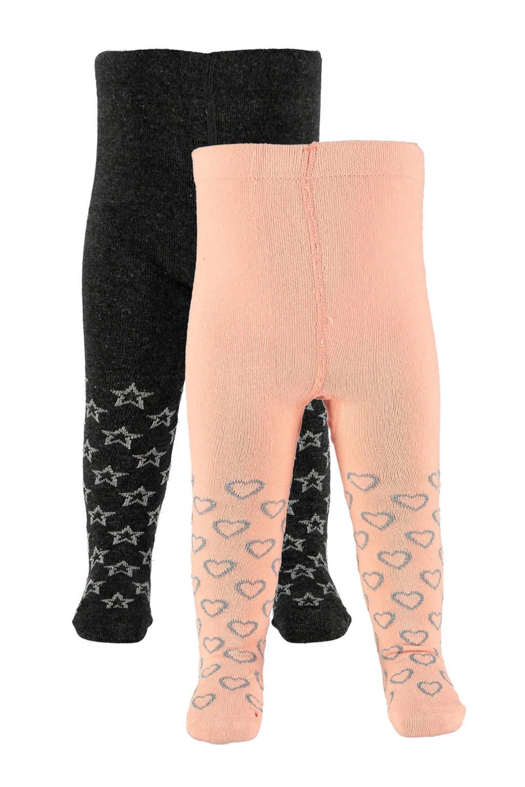 Apollo baby maillot (set van 2), Antraciet/roze