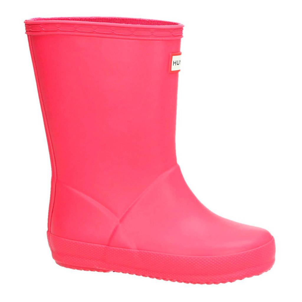 Hunter kids regenlaarzen roze, Roze