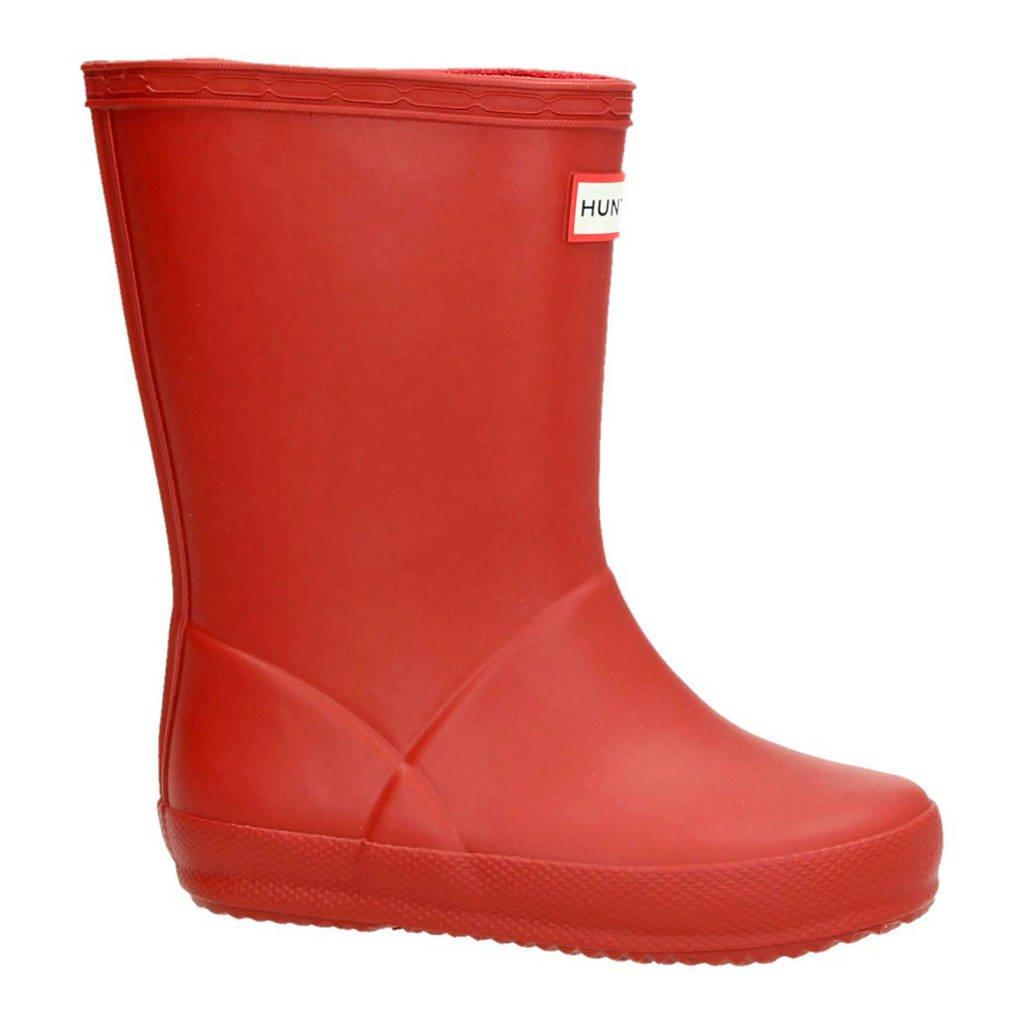 Hunter   regenlaarzen rood kids, Rood