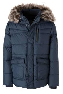 Here & There winterjas donkerblauw