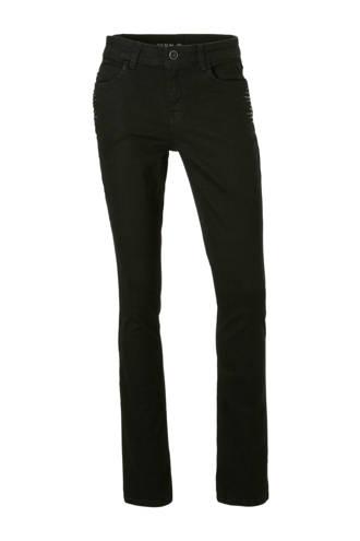 The Denim slim fit jeans met studs zwart