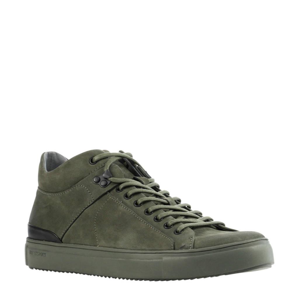 Blackstone  leren sneakers groen, Groen