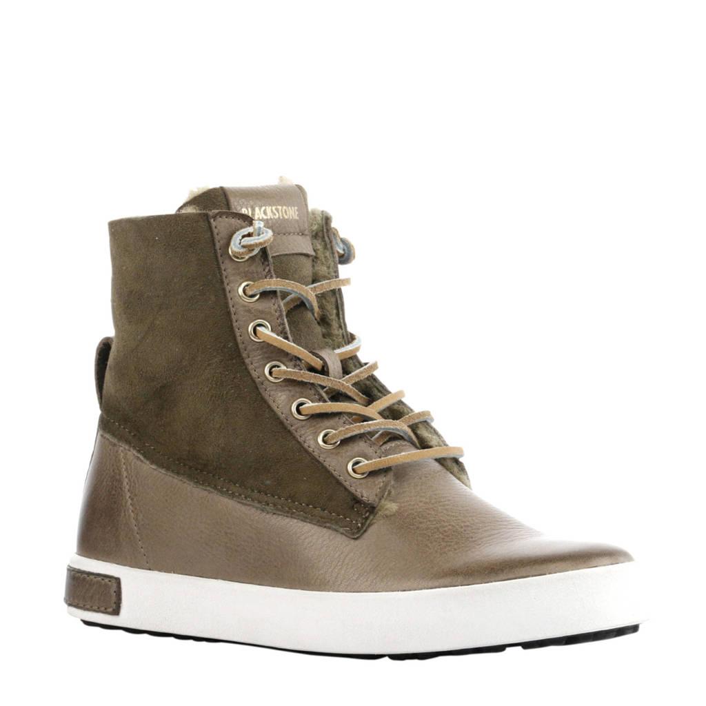 Blackstone  suède sneakers groen, Groen