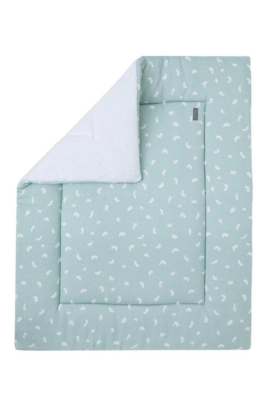 Petit Juul boxkleed groen/wit 75x95 cm, Groen/wit