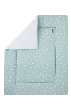 boxkleed groen/wit 75x95 cm