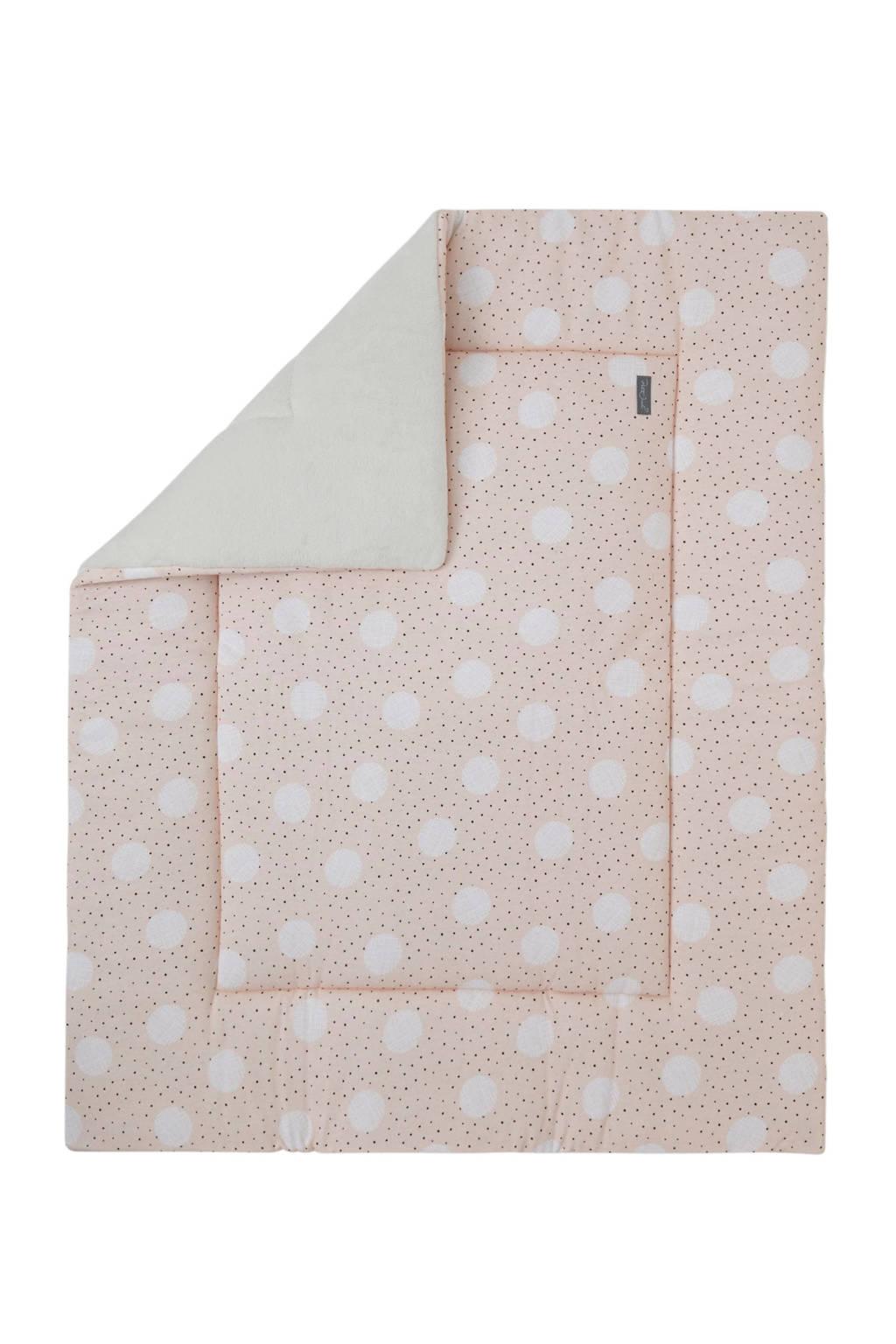 Petit Juul boxkleed roze/creme/zwart 75x95 cm, Roze/creme/zwart