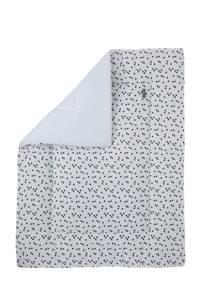 Petit Juul boxkleed wit/zwart 75x95 cm, Wit/zwart