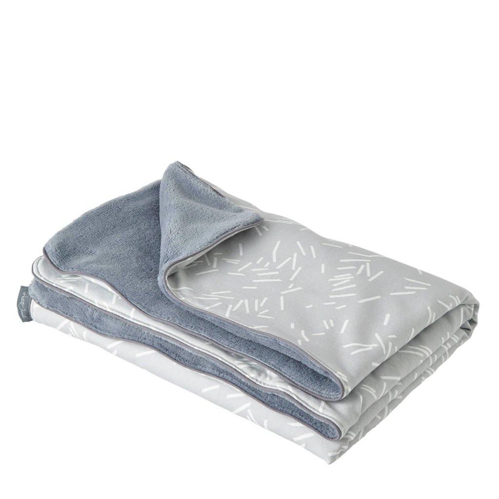 Petit Juul wiegdeken grijs 75x100 cm, Grijs