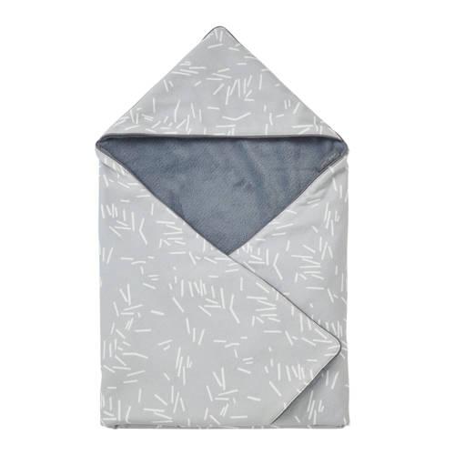 Petit Juul wikkeldeken 70x70 cm grijs/wit kopen
