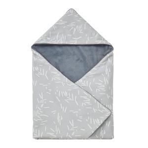 wikkeldeken 70x70 cm grijs/wit