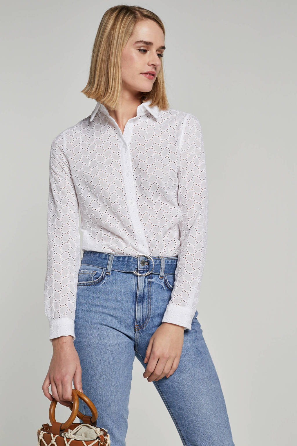 GUESS high waist slim fit jeans, Blauw