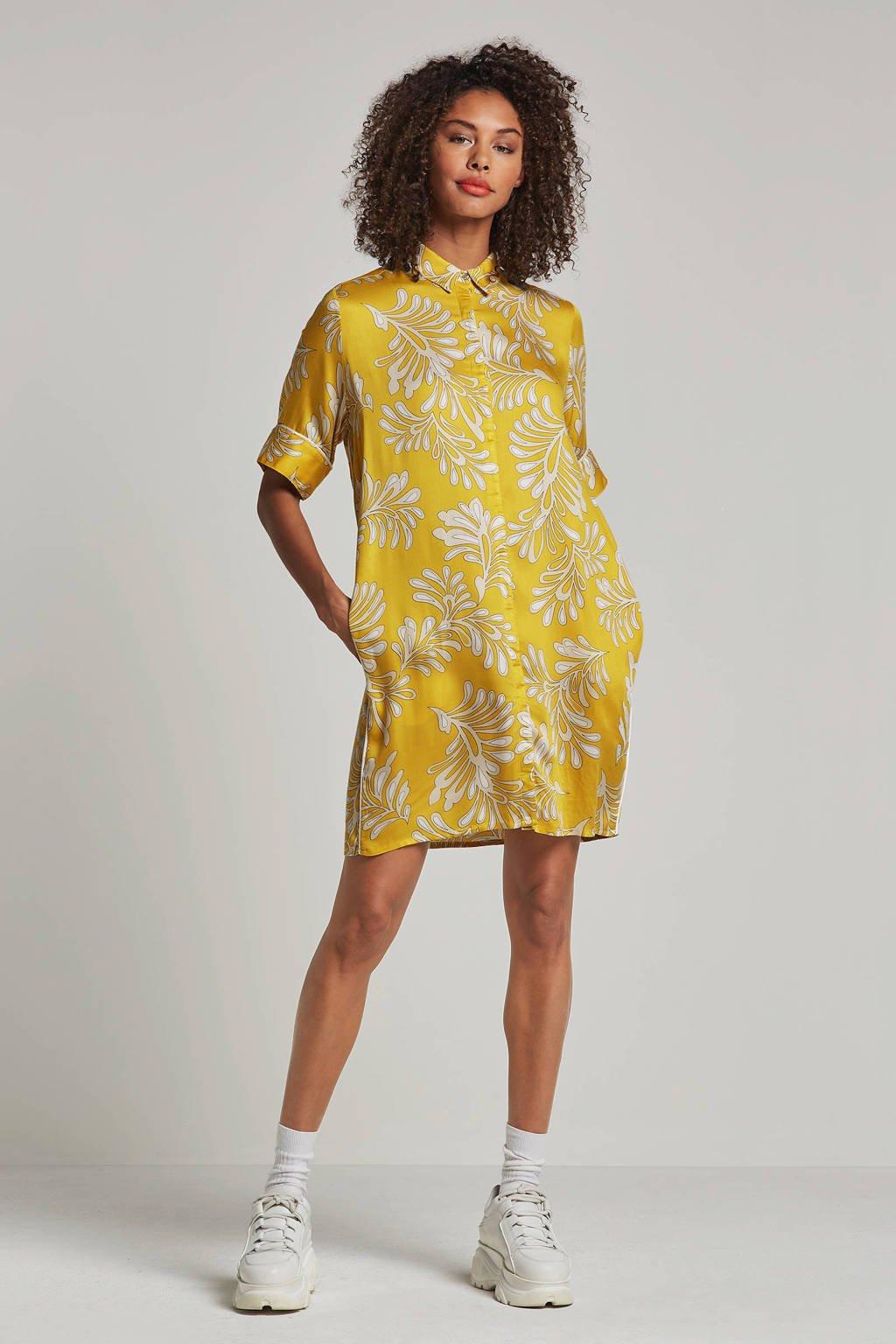 alchemist jurk met bloemen geel, Geel