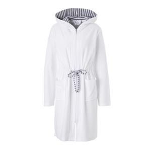 badstof badjas in all over print lichtroze