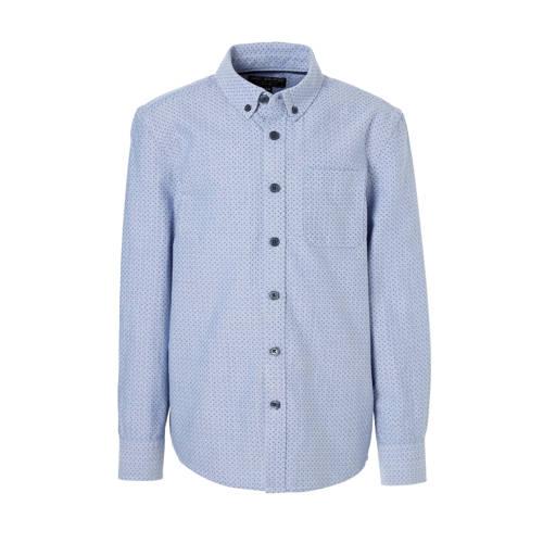 overhemd met print blauw