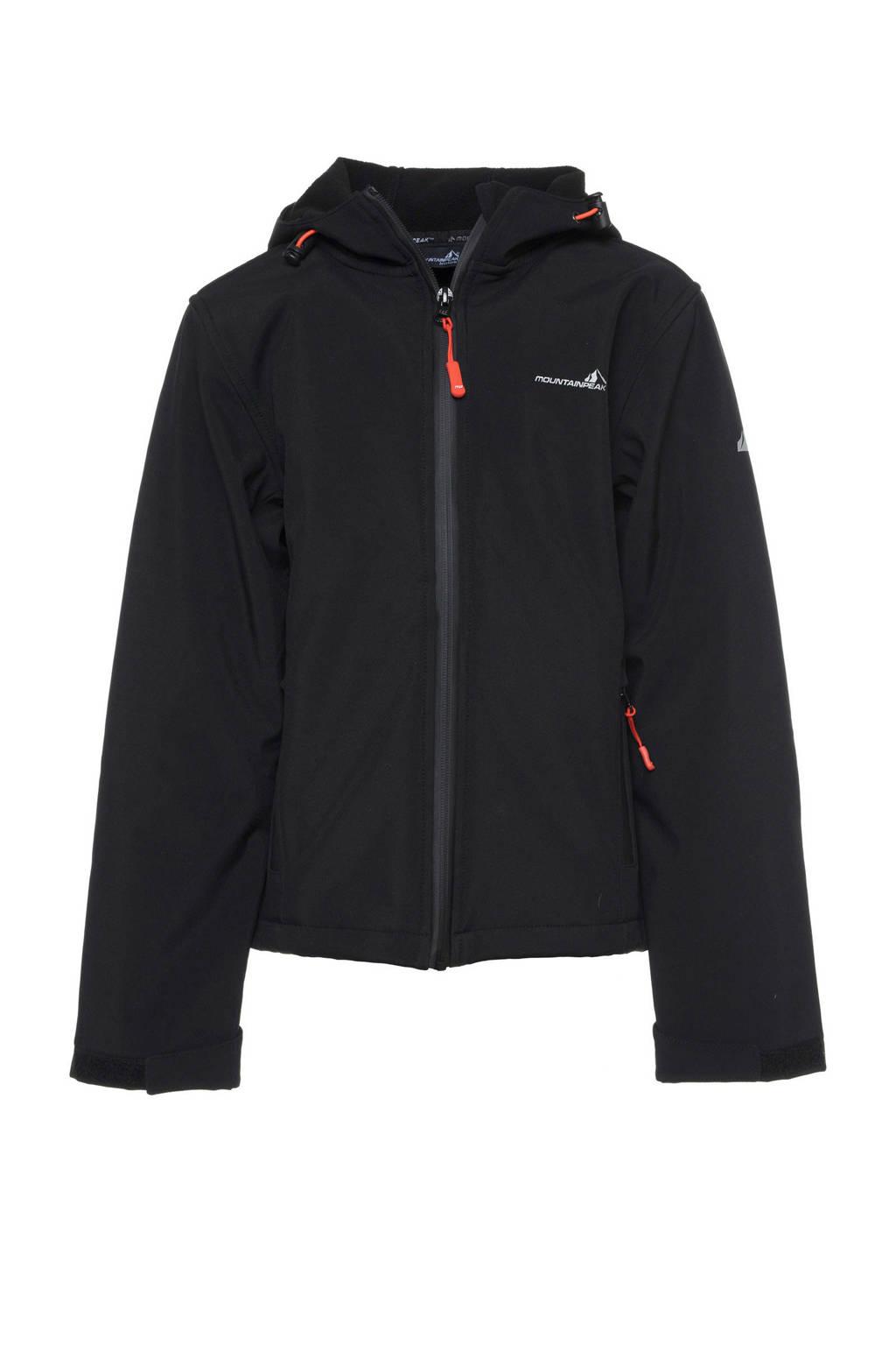 Mountain Peak softshell jas zwart, Zwart