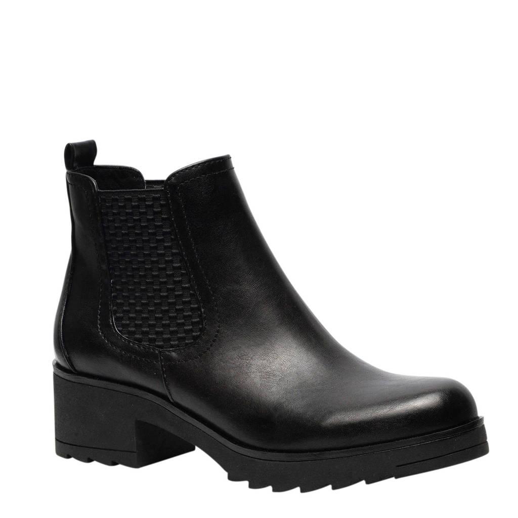 Scapino Nova chelsea boots zwart, Zwart
