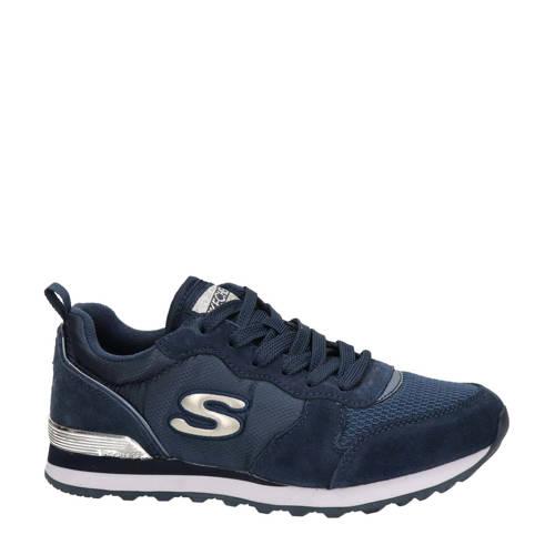 Skechers su??de sneakers donkerblauw
