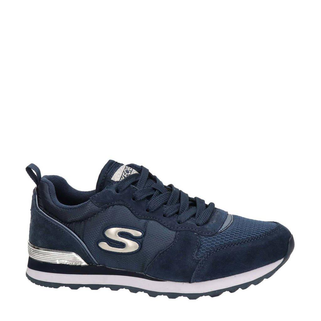 Skechers   suède sneakers donkerblauw, Blauw